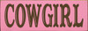 Shown in Old Pink with Brown lettering