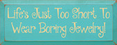 Shown in Old Aqua with Baby Tangerine lettering