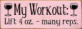 Shown in Old Baby Pink with Black lettering