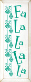 Shown in Old Cottage White with Emerald lettering
