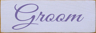 Shown in Old Lavender with Purple lettering