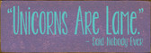 Shown in Old Purple with Aqua lettering