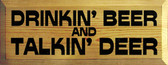 Shown in Butternut Stain with Black lettering