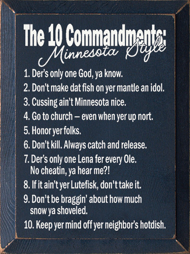 The 10 Commandments Minnesota Style 1 Der S Only One