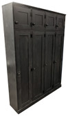 Custom Tall 4-Locker Unit in Solid Black