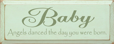 Shown in Old Baby Green with Sage lettering