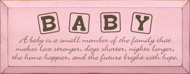 Shown in Old Baby Pink with Brown lettering