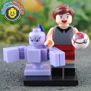 Mewtwo and Trainer LEGO compatible Pokemon GO Minifigure