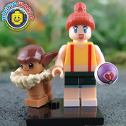 Eevee and Trainer LEGO compatible Pokemon GO Minifigure