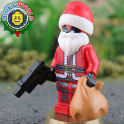 Deadpool Claus LEGO compatible Minifigure