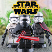 Star Wars The Force Awakens  LEGO compatible 3 Minifigure Set