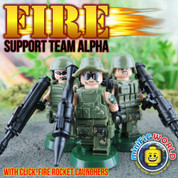 Fire Support Team Alpha LEGO compatible 3 Minifigure set