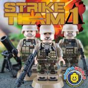 Strike Team Delta 1 LEGO compatible 3 Minifigure set