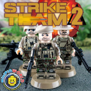 Strike Team Delta 2 LEGO compatible 3 Minifigure set