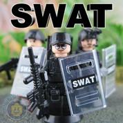SWAT LEGO compatible 3 Minifigure set