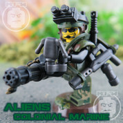 Aliens Colonial Marine LEGO compatible Minifigure with Mini-gun