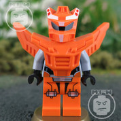 LEGO Galaxy Orange Robot Sidekick Minifigure