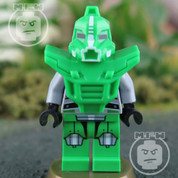 LEGO Galaxy Green Robot Sidekick Minifigure