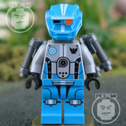LEGO Galaxy Dark Azure Robot Sidekick Minifigure
