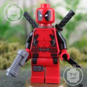 LEGO Marvel Super Heroes Dead Pool RARE Minifigure