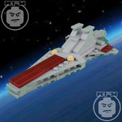 LEGO Star Wars Custom Midi-Scale Venator Starship GRAY