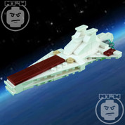 LEGO Star Wars Custom Midi-Scale Venator Starship WHITE