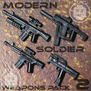 Modern Soldier LEGO compatible Weapons Pack 2