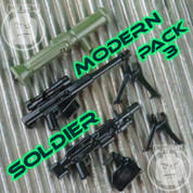 Modern Soldier LEGO compatible Weapons Pack 3