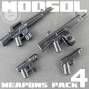 Modern Soldier LEGO compatible Weapons Pack 4