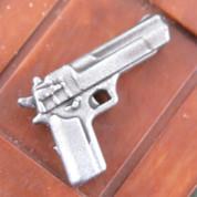 Desert Eagle Silver Finish LEGO minifigure compatible Pistol