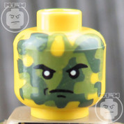 Camo LEGO Minifigure Head