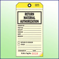Return Material Authorization Tag   3 Part