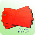 Blank Oversize Tag-Red