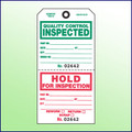 Quality Control Inspected/Hold for Inspection Tag (2 Section) Loose