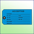 Accepted Inspection Tag - 1 part, Size 5