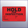 Hold for Inspection Quality Assurance Label 4 x 3