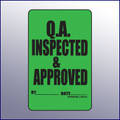 Inspected & Approved Quality Assurance Label 4 x 3