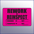 Rework & Reinspect Quality Assurance Label 4 x 3