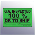 Inspected 100% - OK to Ship 4 x 3