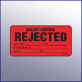 Rejected Quality Control Mini Label 1-/14 x 2-1/2