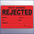 Rejected Large Quality Assurance Label 4 x 6
