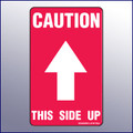 Caution This Side Up Label