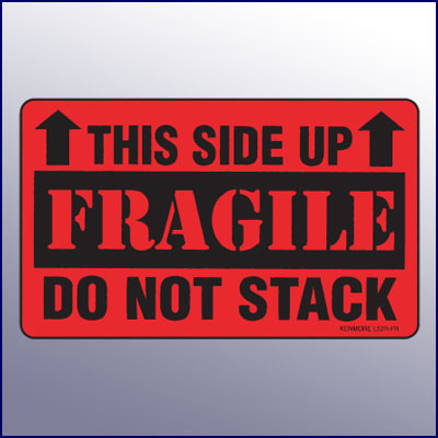 This Side Up/Fragile/Do Not Stack Label - Kenmore Label & Tag