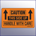 Caution/This Side Up/Handle With Care Label