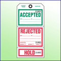 Accepted/  Rejected/Hold Tag (3 Section) w/Wires
