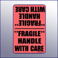 Fragile Handle with Care Label 4X6