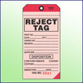 Reject Tag - 2 Part