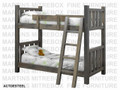 Finished Lumberjack Log Twin Over Double Bunk Bed