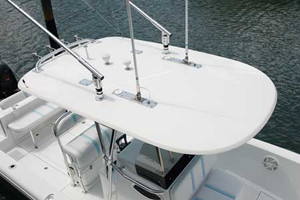 "Small Hardtop measures 70"" x 109"" fetures a drip edge around the perimeter. This top is ideal for center console boats 20-30ft."
