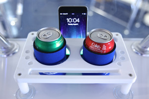 Dual Drink Holder with Suction Cups